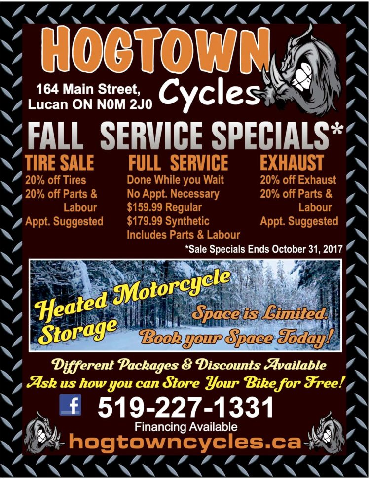 Hogtown Cycles Fall Service Specials