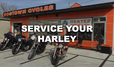 Service your Harley-Davidson motorcycle at Hogtown Cycles in Lucan, Ontario