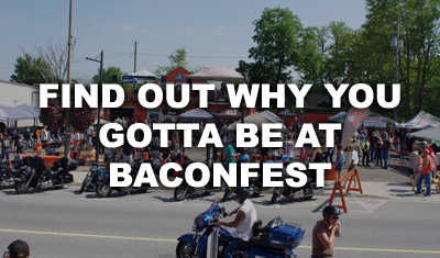 Come join us at Hogtown Cycles in Lucan, Ontario for Baconfest