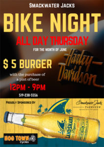 Hogtown Cycles & Smackwater Jack's presents Bike Night @ Smackwater Jack's | Lambton Shores | Ontario | Canada