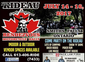 Rideau Rendezvous Motorcycle Rally @ Rideau Rendezvous Motorcycle Rally | Smiths Falls | Ontario | Canada