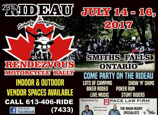Rideau Rendezvous Motorcycle Rally 2017