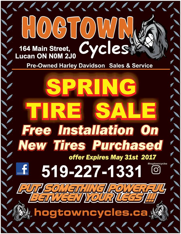 Hogtown Cycles Spring Tire Sale 2017