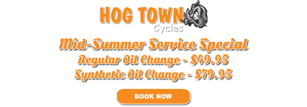 Mid-summer service special at Hogtown Cycles in Lucan, Ontario