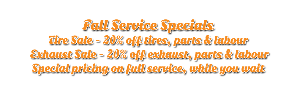 Fall service specials and Winter storage specials at Hogtown Cycles in Lucan, Ontario