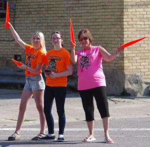 Baconfest volunteers at Baconfest in Lucan, Ontario
