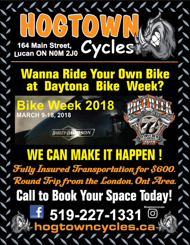 HogTown Cycles will transport your bike to and from Bike Week 2018 in Daytona