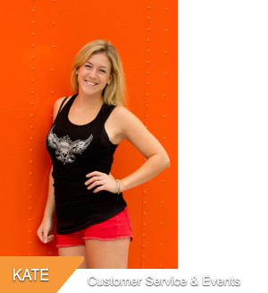 Kate, Customer Service & Special Events at Hogtown Cycles in Lucan, Ontario