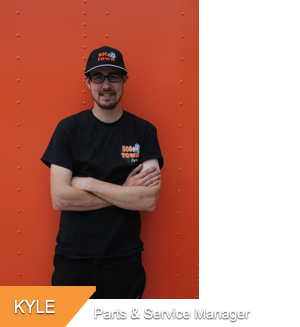 Kyle, Parts & Service Manager at Hogtown Cycles in Lucan, Ontario
