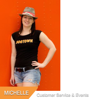 Michelle, Customer Service & Special Events at Hogtown Cycles in Lucan, Ontario