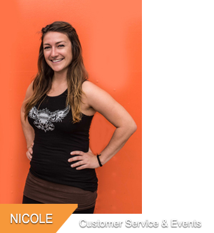Nicole, Customer Service & Special Events at Hogtown Cycles in Lucan, Ontario
