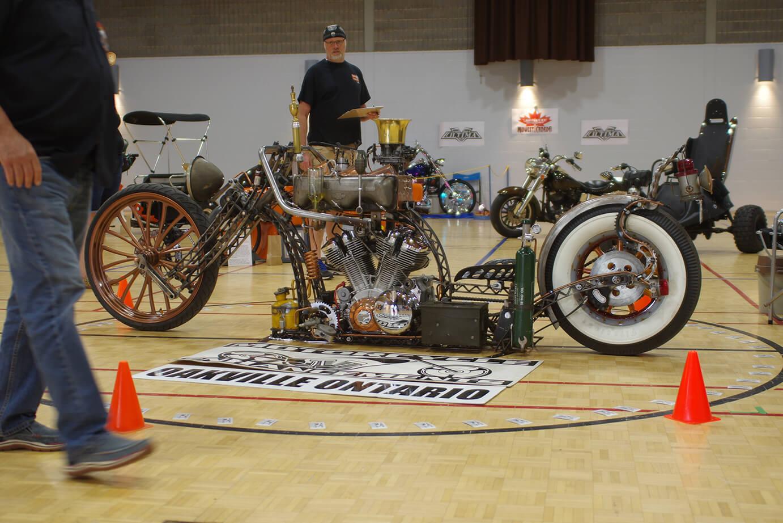 "Custom Bike Show 1st place John Constanti – Motorcycle Enhancements – Oakville Ontario ""Steam Punk Bike"""