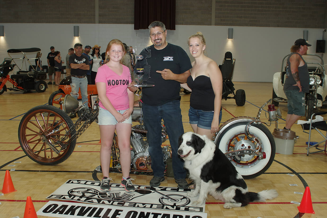 "Custom Bike Show 1st place John Constanti – Motorcycle Enhancements – Oakville Ontario ""Steam Punk Bike"""