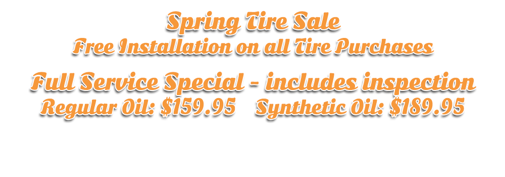 Spring tire sale and service specials at Hogtown Cycles