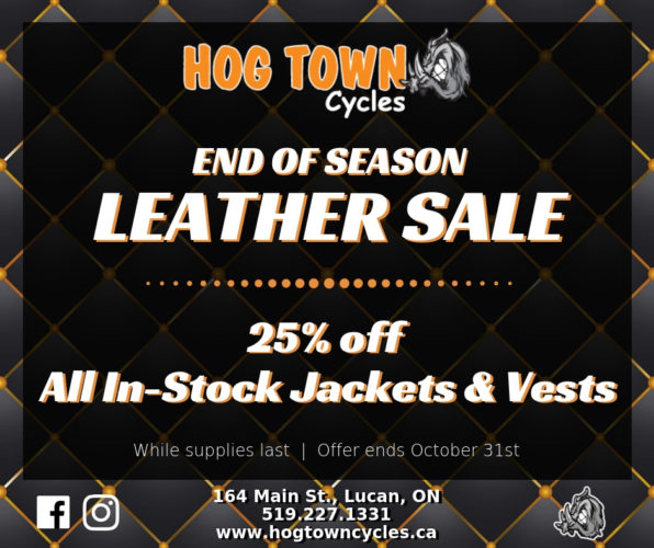 motorcycle leather sale hogtown cycles