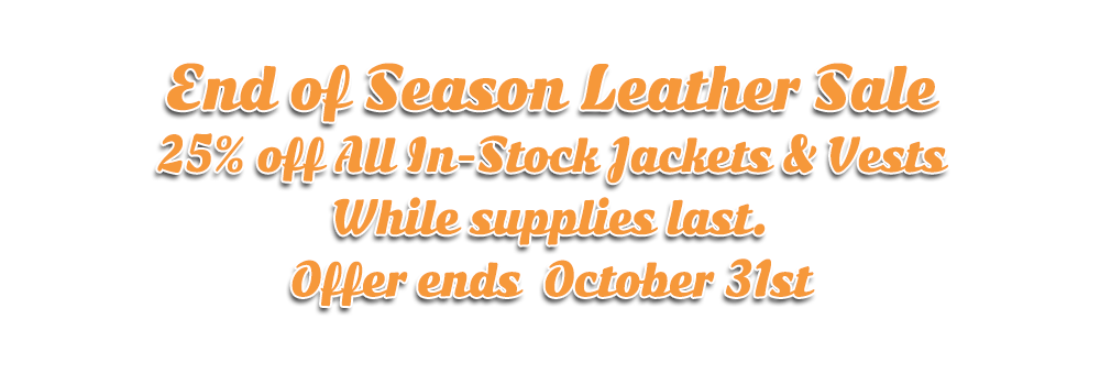 leather sale hogtown cycles