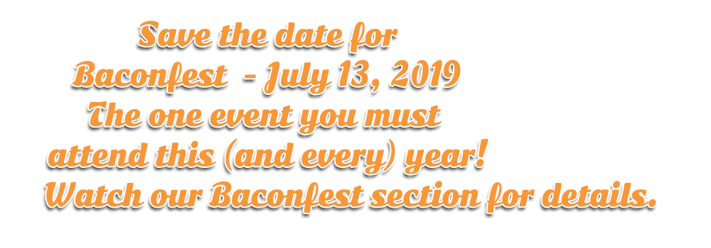 Save the date for Baconfest 2019 in Lucan, Ontario