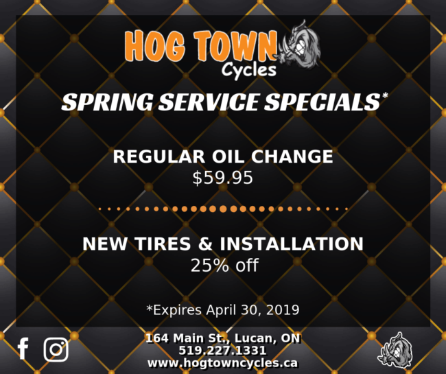 Spring Service Specials for used Harley-Davidson motorcycles