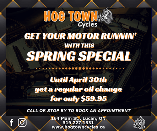 Oil Change Special for Harley-Davidson at Hogtown Cycles