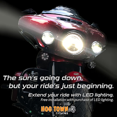 LED Lights with free installation at Hogtown Cycles