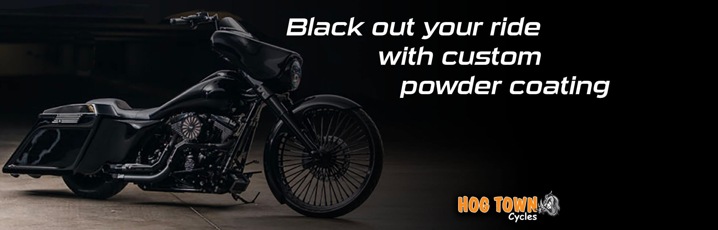 Black out your Harley-Davidson motorcycle at Hogtown Cycles