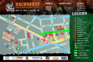 Baconfest 2020 Site Map | Lucan, Ontario
