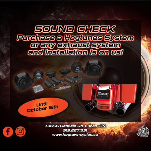 Choose your sound - free installation with purchase of Hogtunes or exhaust system
